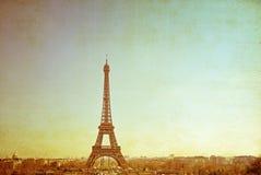 Retro style Eiffel Tower Royalty Free Stock Photos
