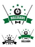 Retro style emblem of snooker Stock Image