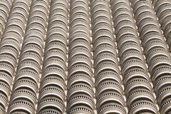 Retro style facade of a building Stock Photo