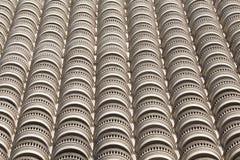 Retro style facade of a building Stock Photo