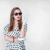 Retro style fashion woman Royalty Free Stock Image