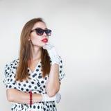 Retro style fashion woman Royalty Free Stock Photo