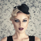 Retro style fashion woman Royalty Free Stock Image