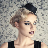 Retro style fashion woman Stock Image