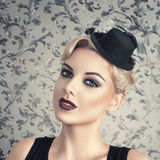 Retro style fashion woman Stock Photos