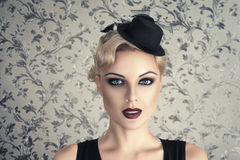 Retro style fashion woman Royalty Free Stock Images
