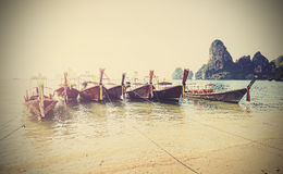 Retro style filtered faded postcard from Thailand Stock Photography