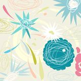 Retro style floral background Royalty Free Stock Photos