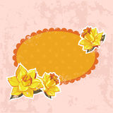 Retro-style floral invitation postcard Stock Images
