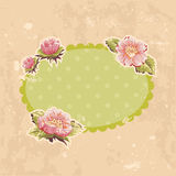Retro-style floral invitation postcard Royalty Free Stock Photos