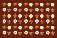 Retro style floral pattern. Vector stock illustration