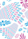 Retro style flower seamless tile Royalty Free Stock Image