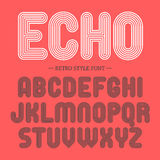 Retro style font Stock Photo
