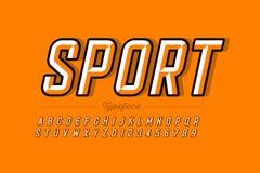 Retro style font design stock illustration