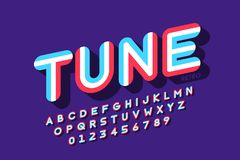 Retro style font vector illustration