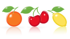 Retro-style Fruity Icons Stock Images