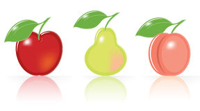 Retro-style Fruity Icons Royalty Free Stock Photo