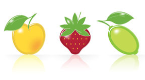Retro-style Fruity Icons Royalty Free Stock Photos
