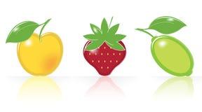 Retro-style Fruity Icons Royalty Free Stock Photos