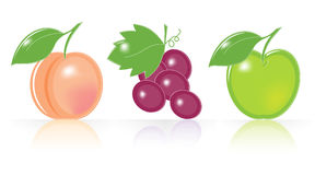 Retro-style Fruity Icons Stock Photo
