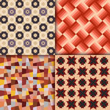 Retro style geometric patterns background. Vector eps 10 Royalty Free Stock Photo