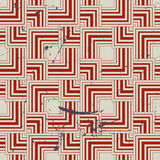 Retro style geometric seamless background, vintage vector repeat Stock Photo
