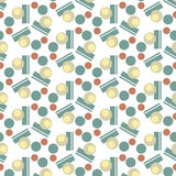 Retro style geometric seamless pattern. Background vector Royalty Free Stock Images