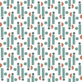 Retro style geometric seamless pattern. Background vector Stock Images