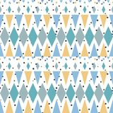 Retro style geometric seamless pattern Royalty Free Stock Photography