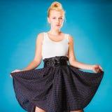 Retro style girl dancer. Stock Photos
