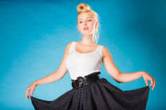 Retro style girl dancer. Stock Images