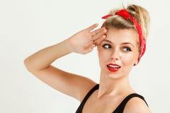 Retro style girl portrait Stock Images