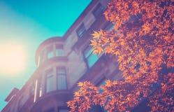 Retro Style Glasgow Tenements royalty free stock photo