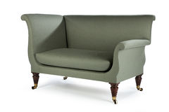 Retro style green sofa sixties, seventies style old and antique Royalty Free Stock Photo