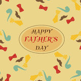 Retro style greeting card for Father`s Day. Retro style design greeting card for Father`s Day Royalty Free Illustration