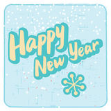 Retro style Happy New Year card Royalty Free Stock Photos