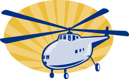 Retro style helicopter or chopper Royalty Free Stock Images