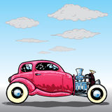Retro style Hotrod car illustration Royalty Free Stock Image