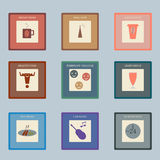 Retro style icons set for cafe royalty free illustration