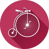 Retro-style illustration of old vintage bicycle Royalty Free Stock Photography
