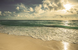 Retro style image of beach Royalty Free Stock Photography