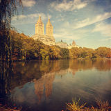 Retro style image of Central park, New York, NY. Royalty Free Stock Photography