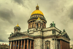 Retro style image of Saint Isaac's Cathedral in Saint Petersburg Royalty Free Stock Photo