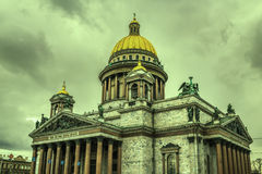 Retro style image of Saint Isaac's Cathedral in St Petersburg Stock Image
