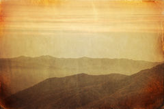 Retro style image of Smoky Mountains ridge Stock Photos