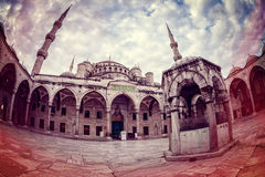 Retro style image of Sultanahmet Blue Mosque Stock Image