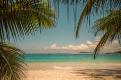 Retro style image of tropical island beach Stock Photography