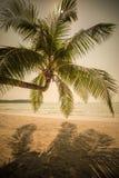 Retro style image of tropical island beach Royalty Free Stock Photos