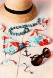 Retro style image of women summer fashion Royalty Free Stock Photography