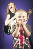Childs rock band Royalty Free Stock Images